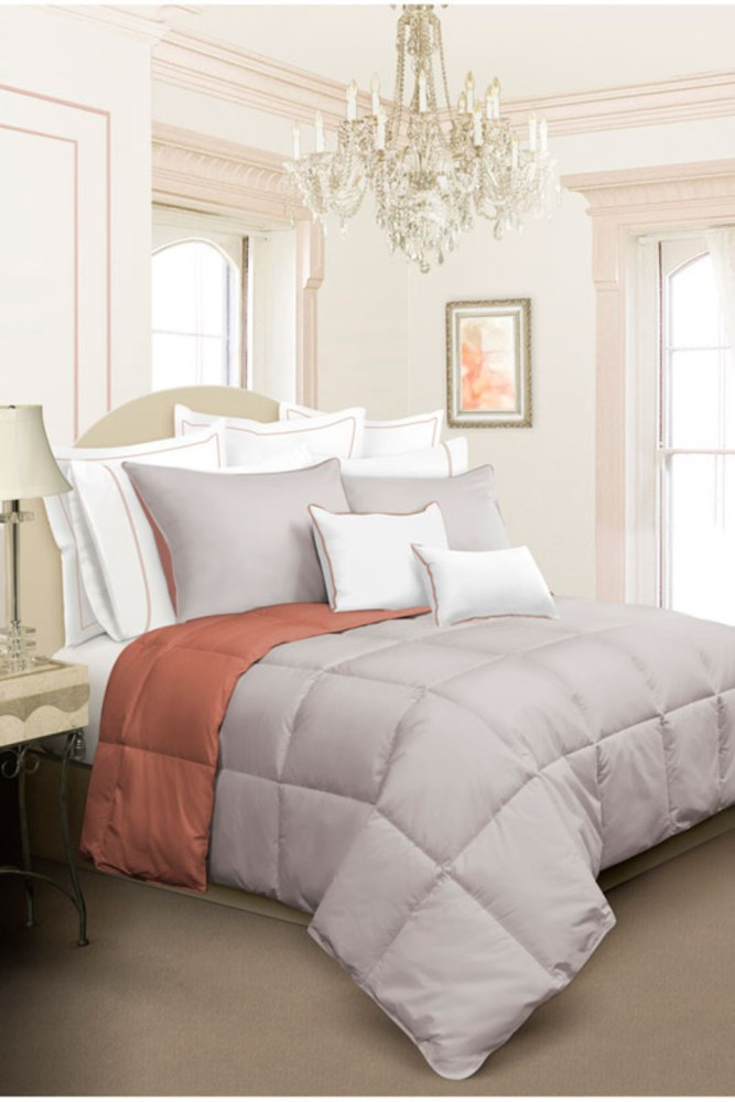 Gray And Orange Comforter Set