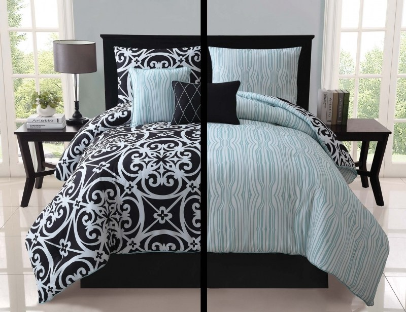 Gray And Teal Comforter Set
