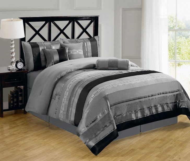 Gray And White Comforter Sets Queen