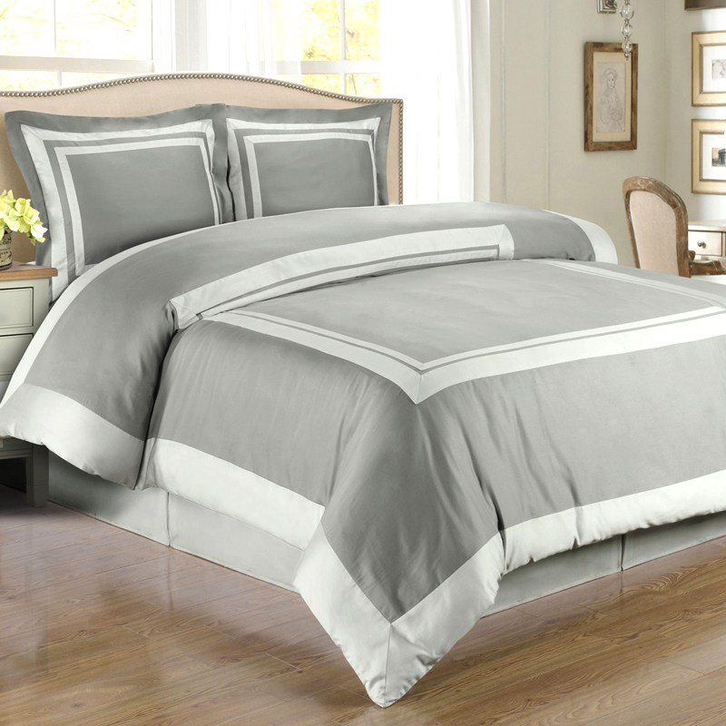Gray And White Comforter Sets