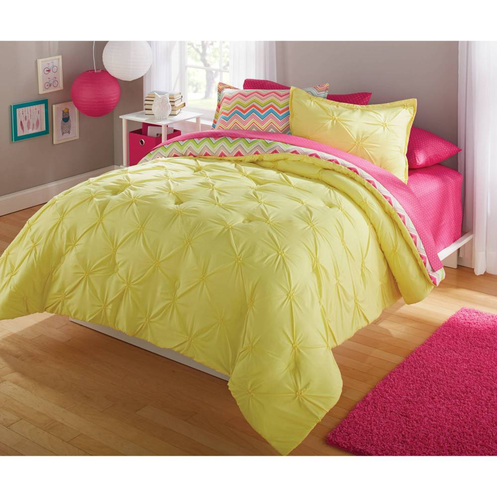 Gray And Yellow Comforter Set