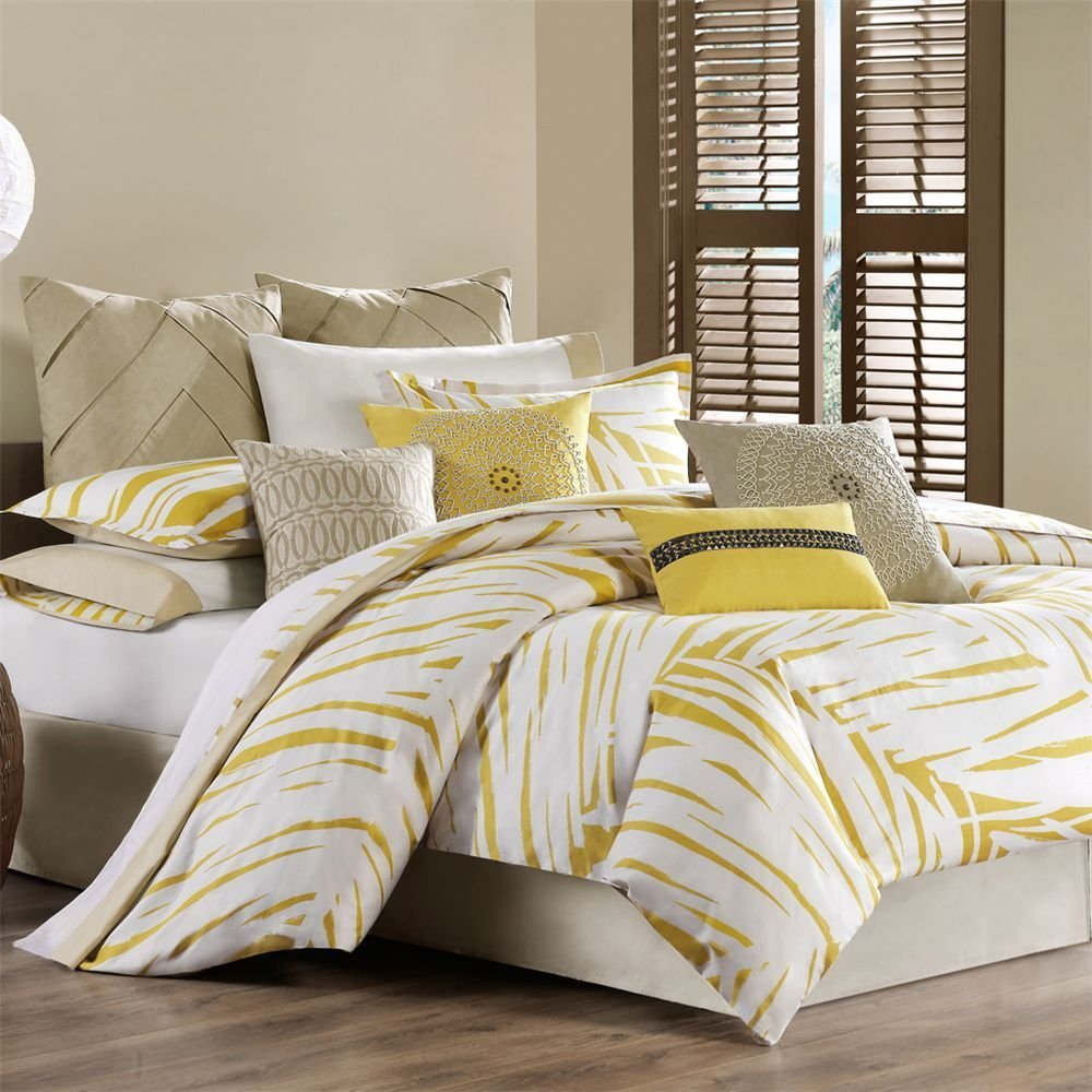Gray And Yellow Comforter Sets