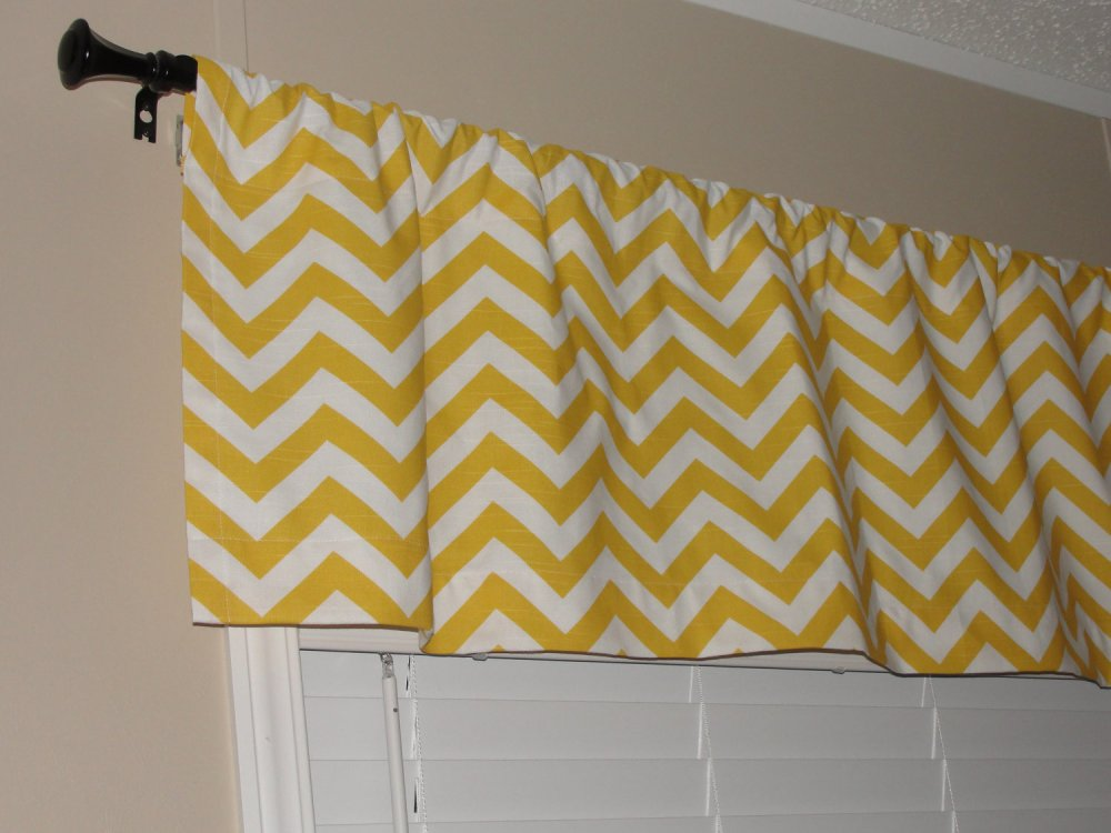 Gray And Yellow Valance