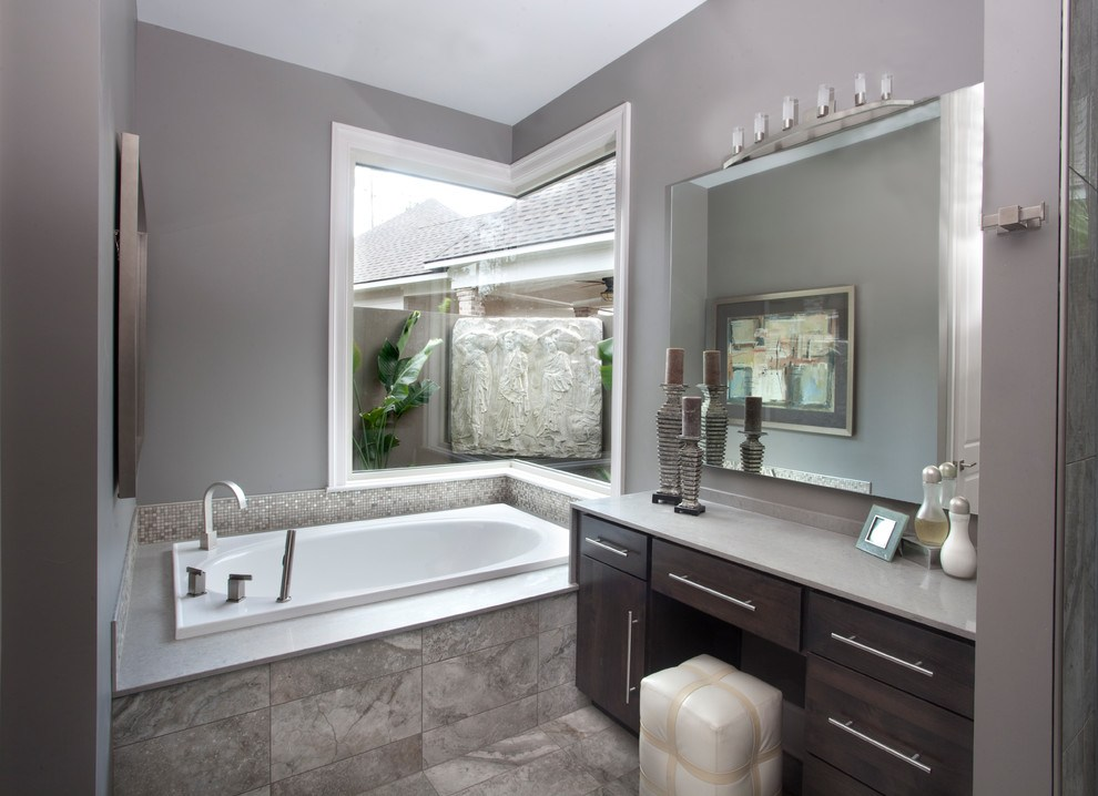 Gray Bathroom Mirror