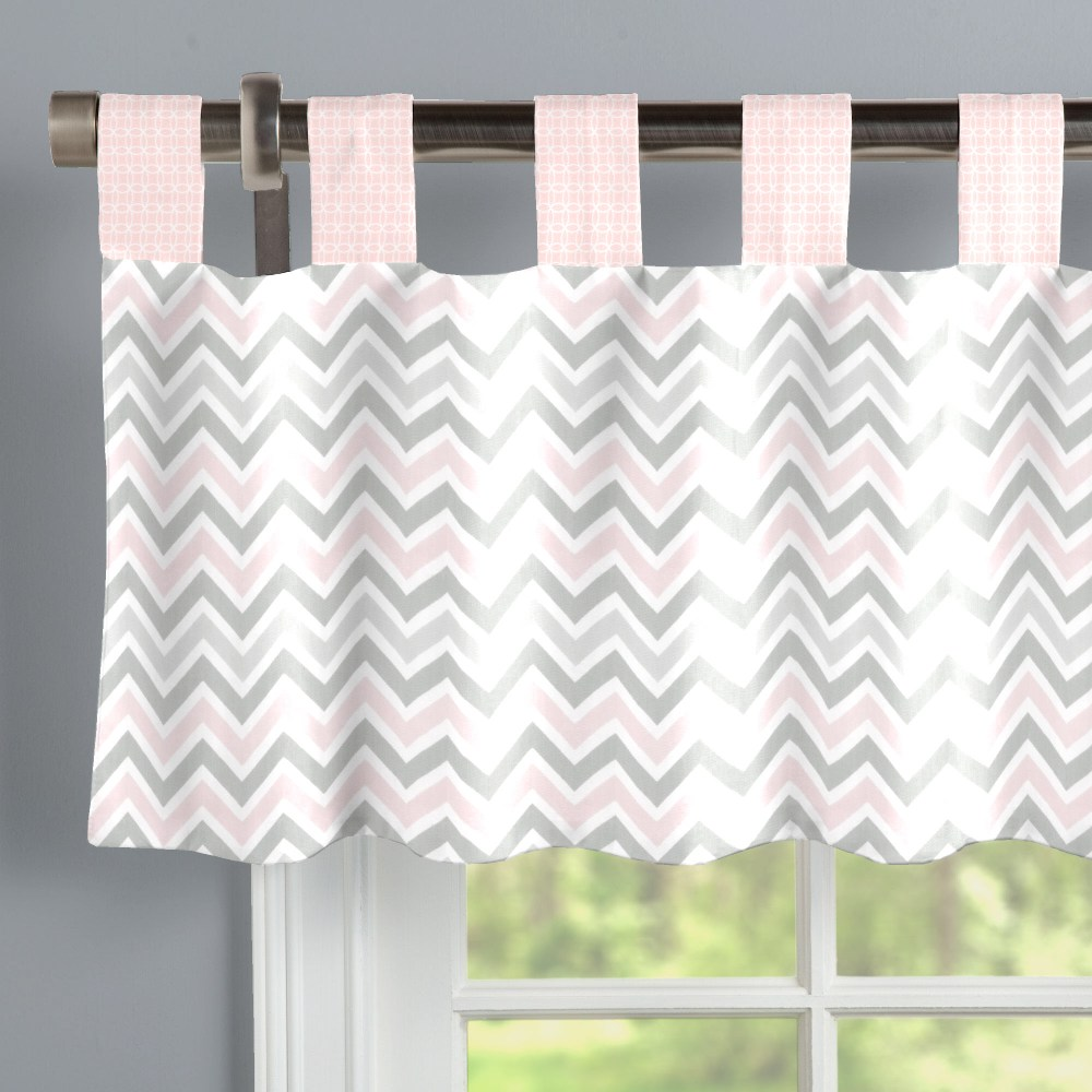 Gray Chevron Window Valance