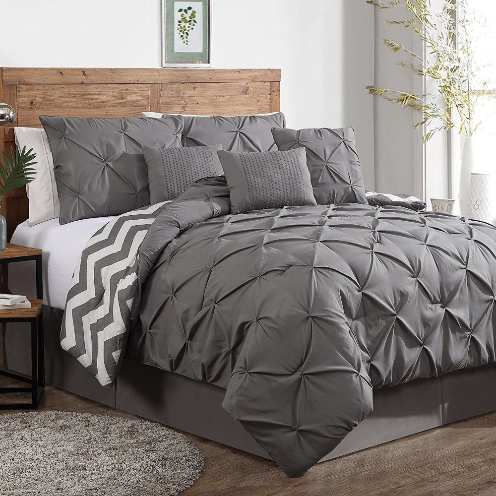 Gray King Comforter Set