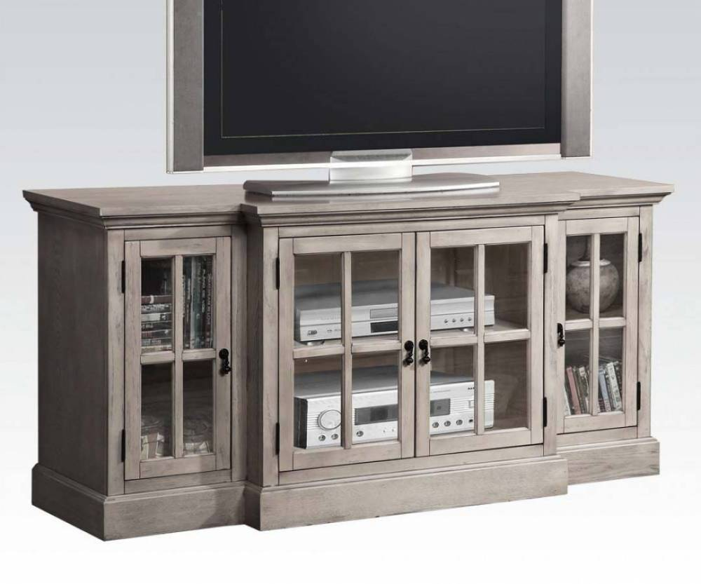 Gray Wood Tv Stand