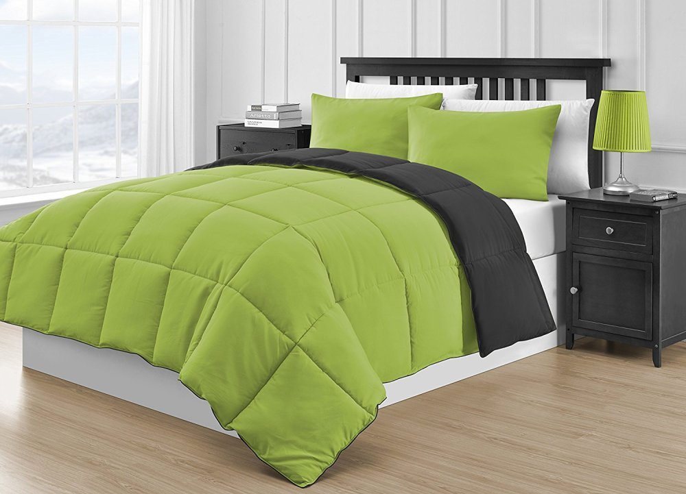 Green And Black Comforter Sets Queen