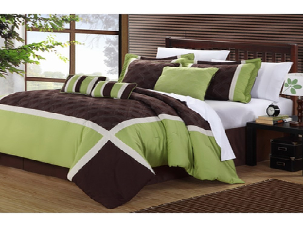 Green And Brown Comforter Sets