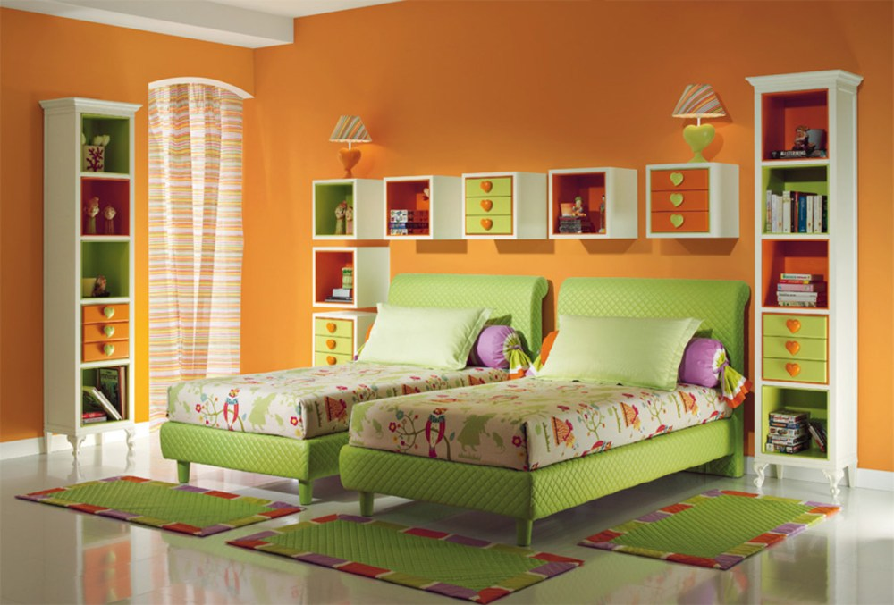 Green Kids Bed