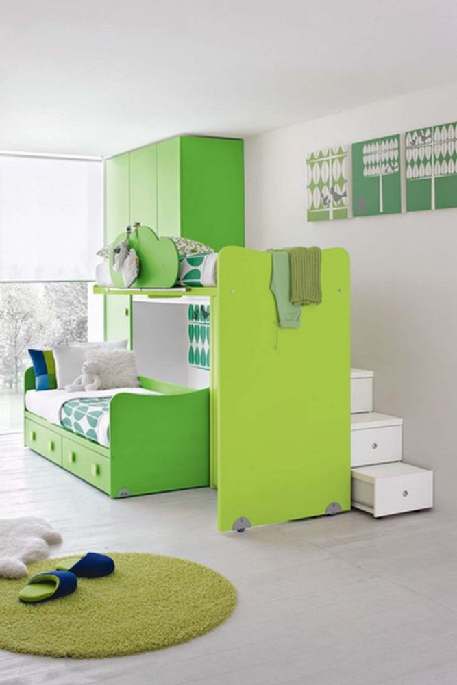 Green Kids Bedroom Ideas