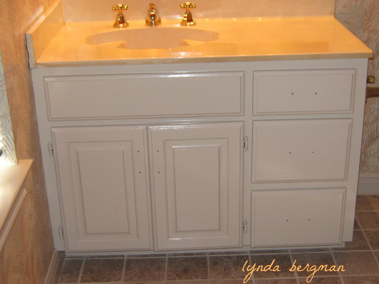 Green Painted Bathroom Cabinets