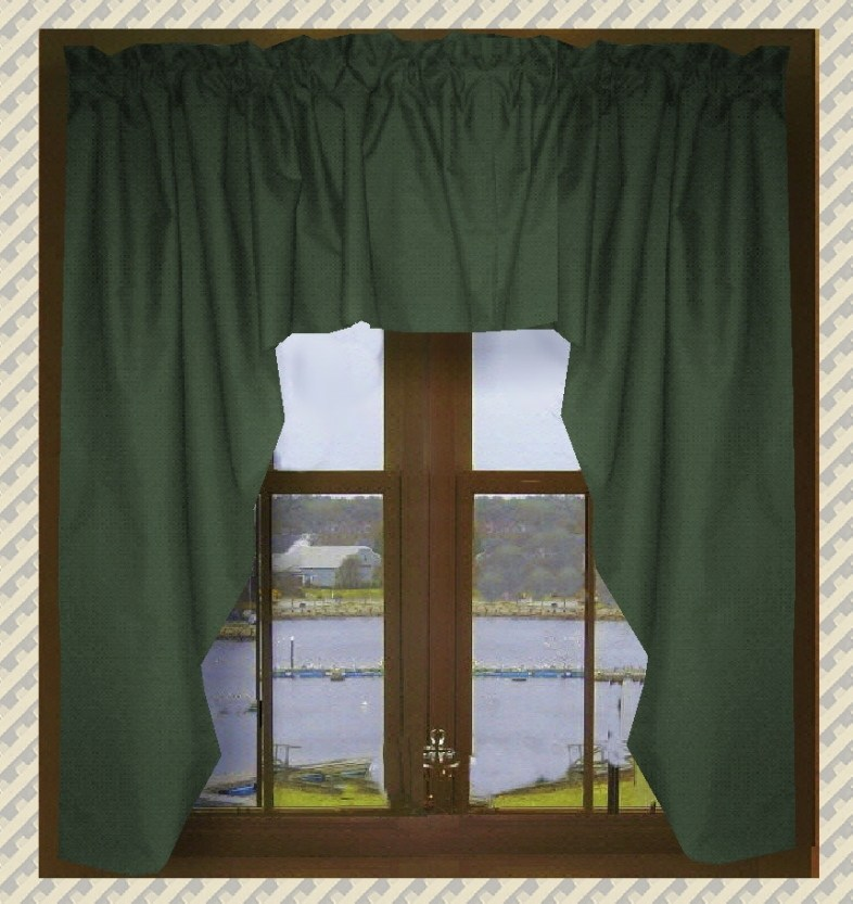 Green Window Valance