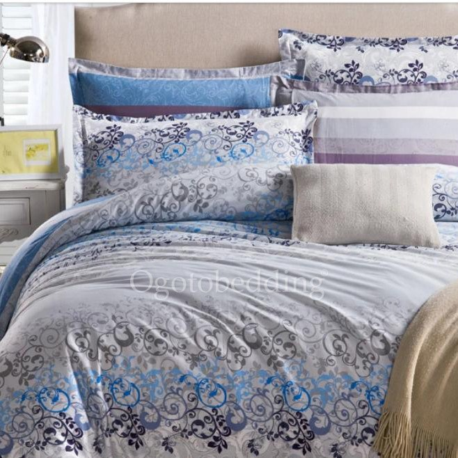 Grey And Blue Comforter Sets