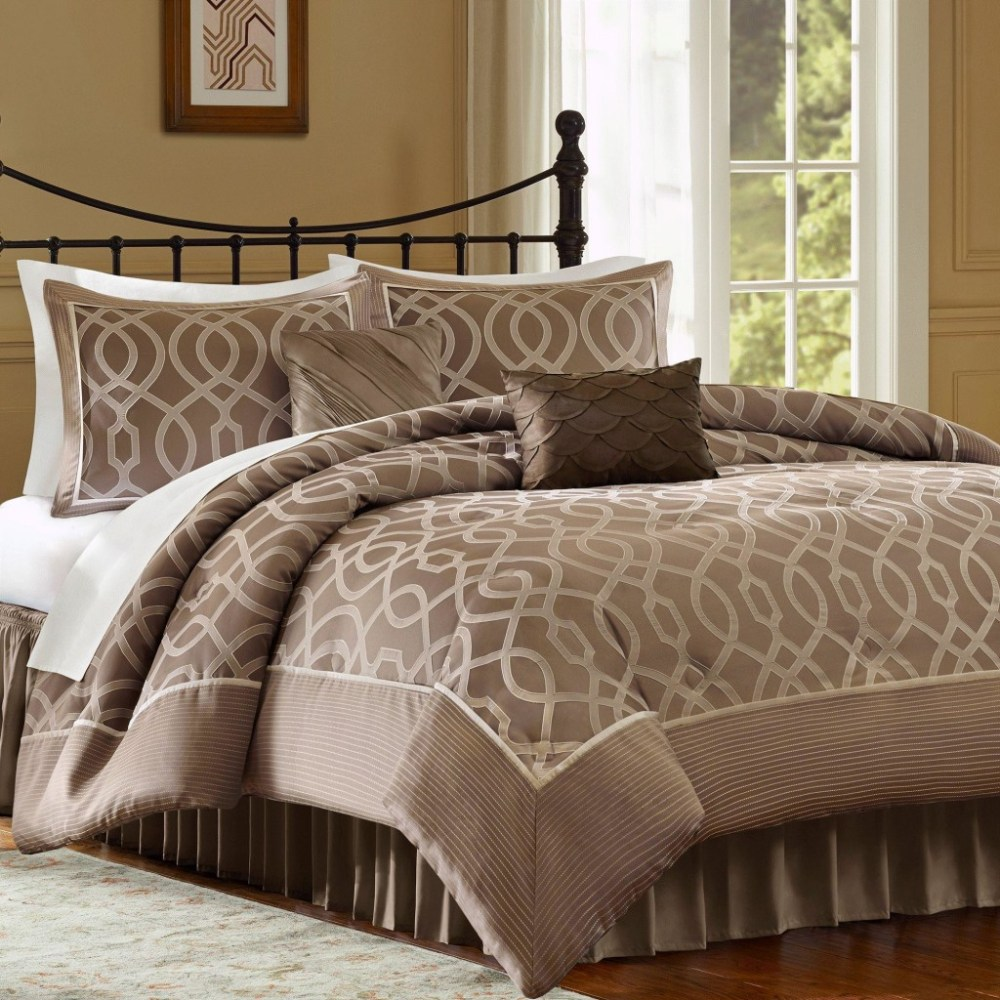 Grey And Orange Comforter Set
