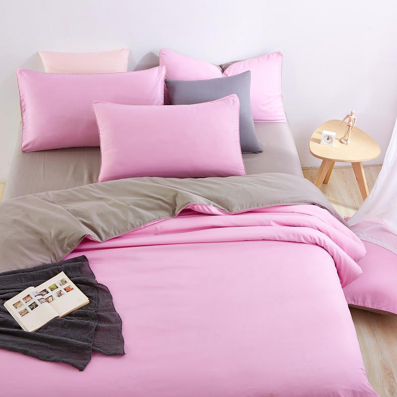 Grey And Pink Comforter Set