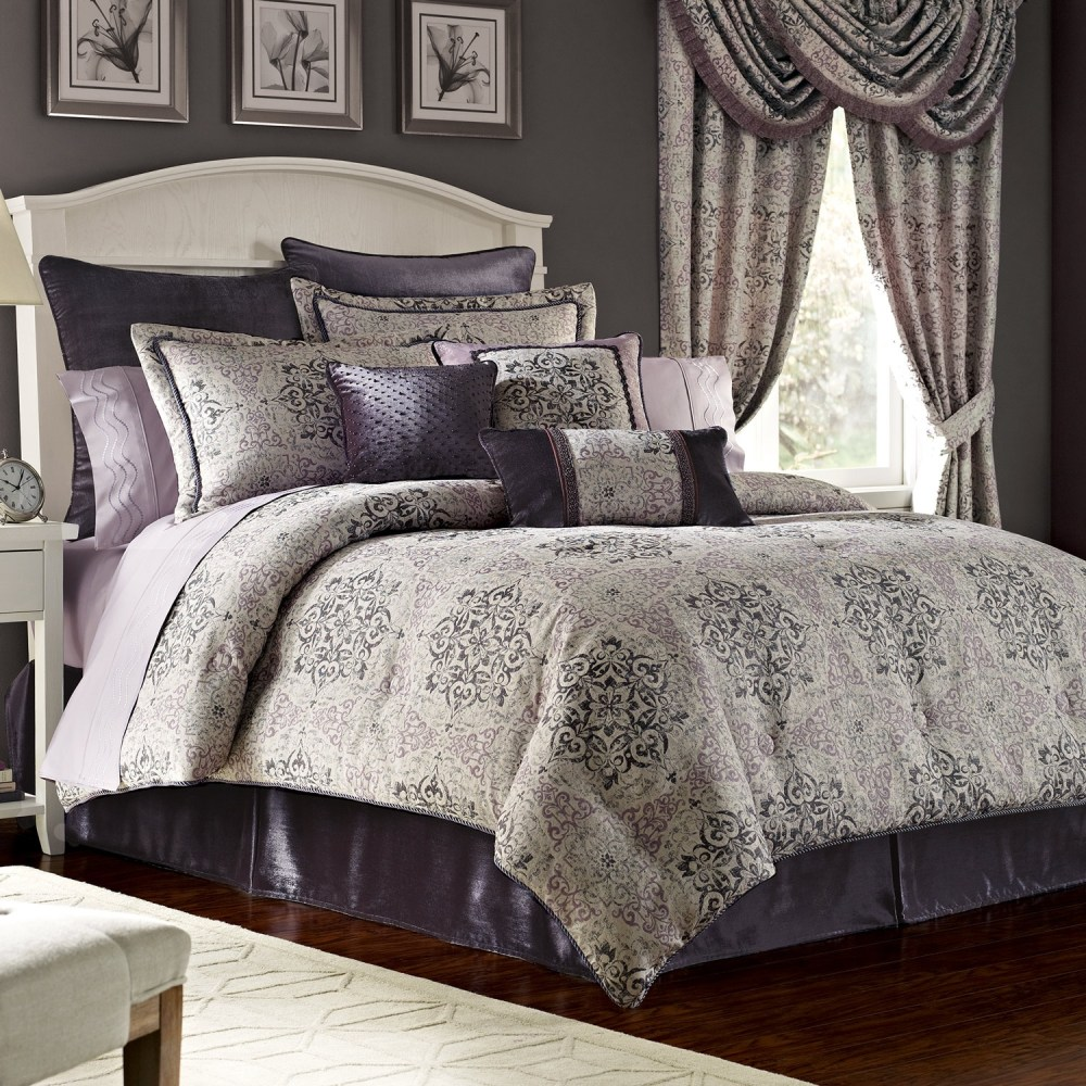 Grey And Purple Comforter Sets