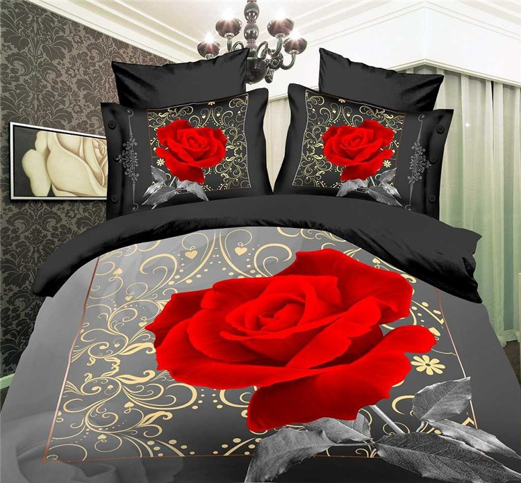 Grey And Red Comforter Sets