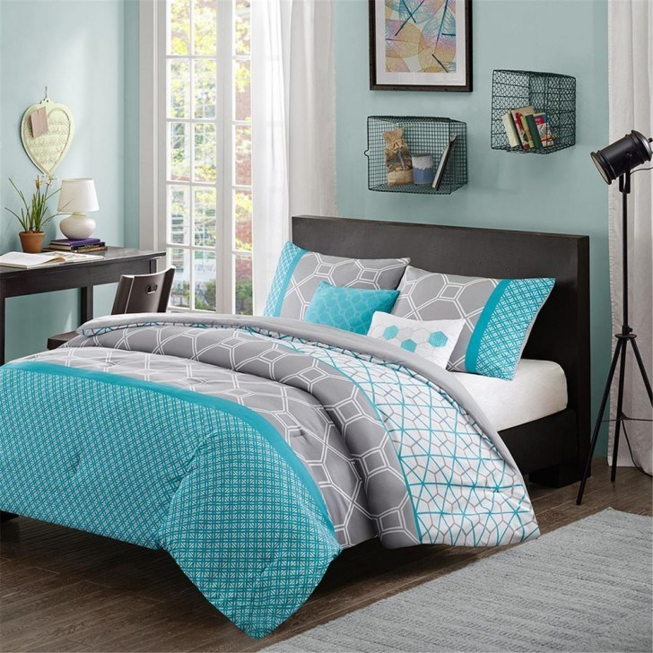 Grey And Teal Comforter Sets