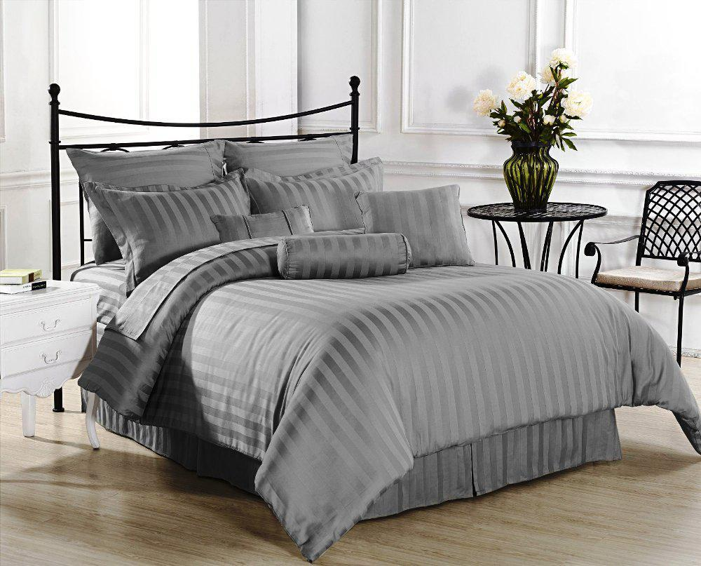 Grey And White Comforter Set