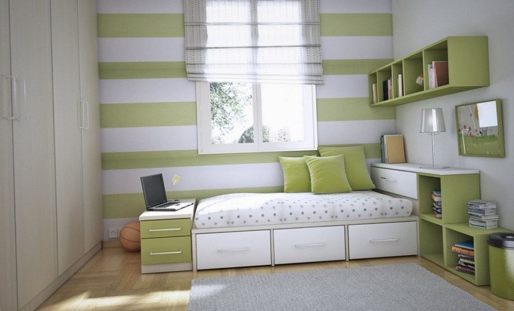 Grey And White Kids Bedroom