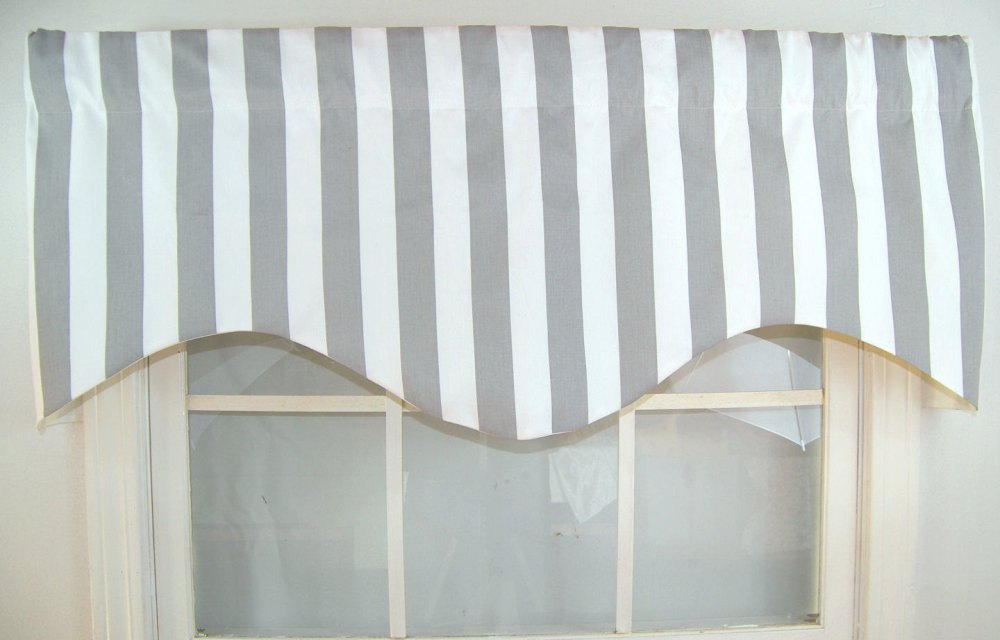 Grey And White Valance