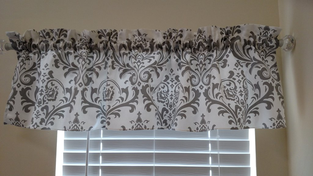 Grey And White Window Valance
