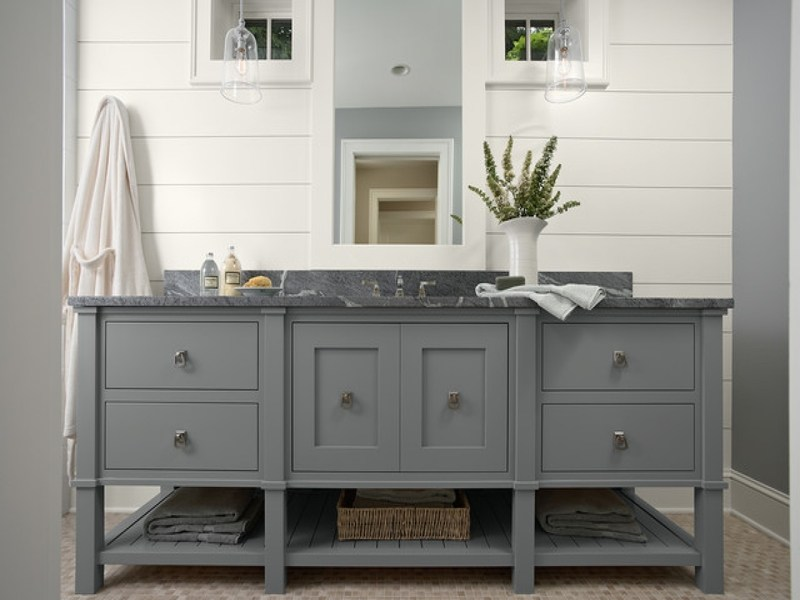 Grey Bathroom Vanity Cabinet