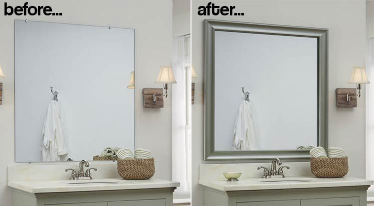 Hanging A Bathroom Mirror With Glue