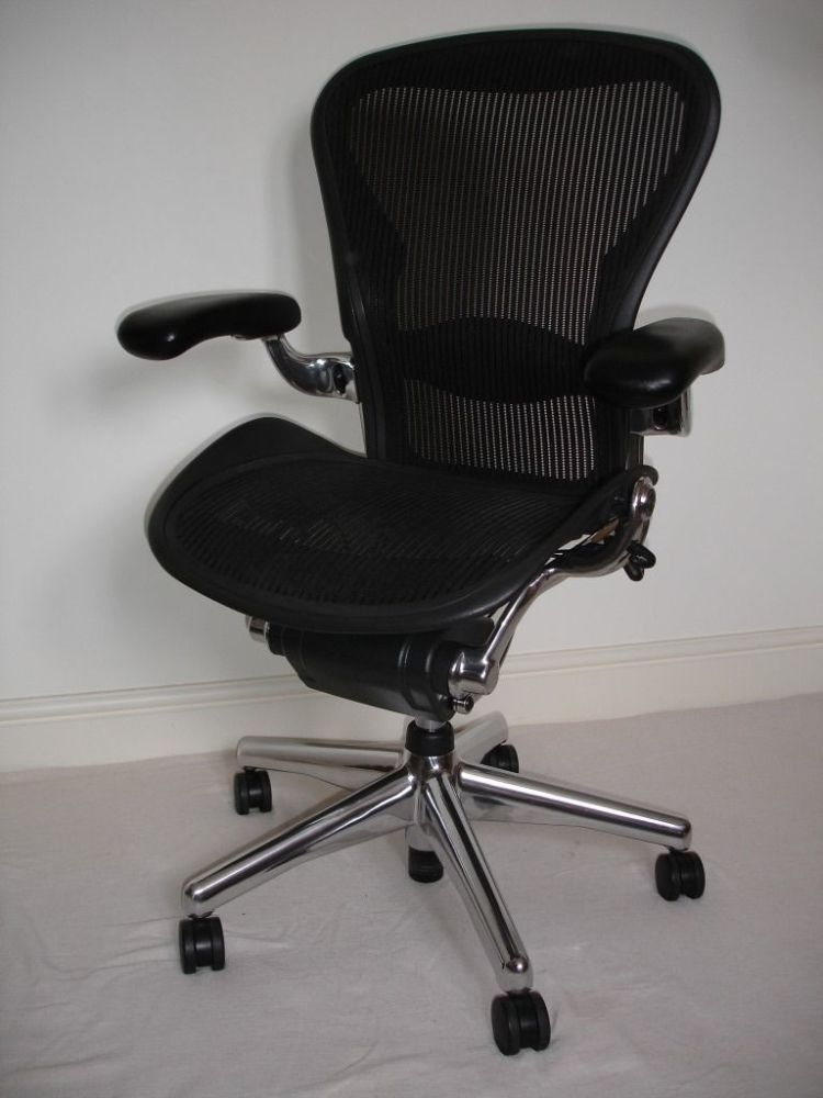 Herman Miller Aeron Office Chair Polished Aluminium