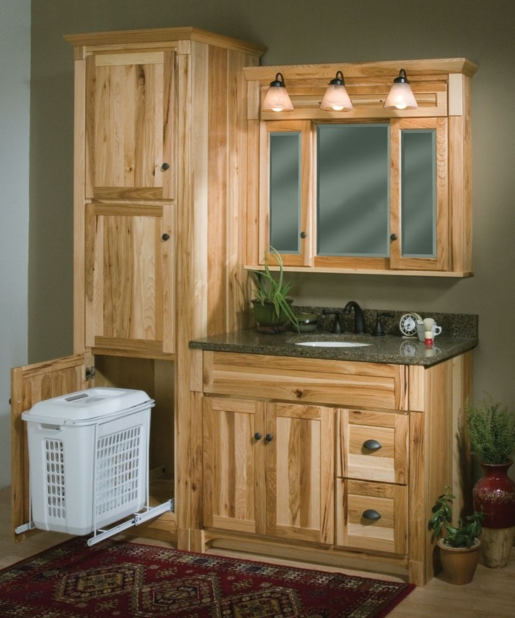 Hickory Bathroom Cabinets Lowes