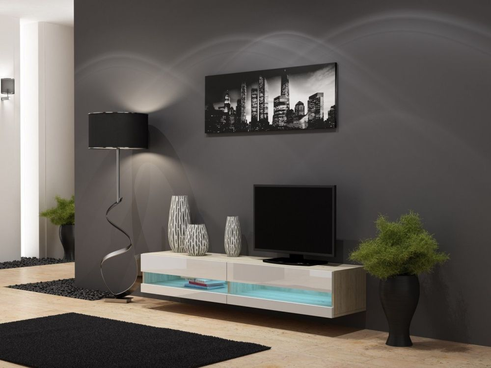 High Gloss Tv Stand With Led Lights
