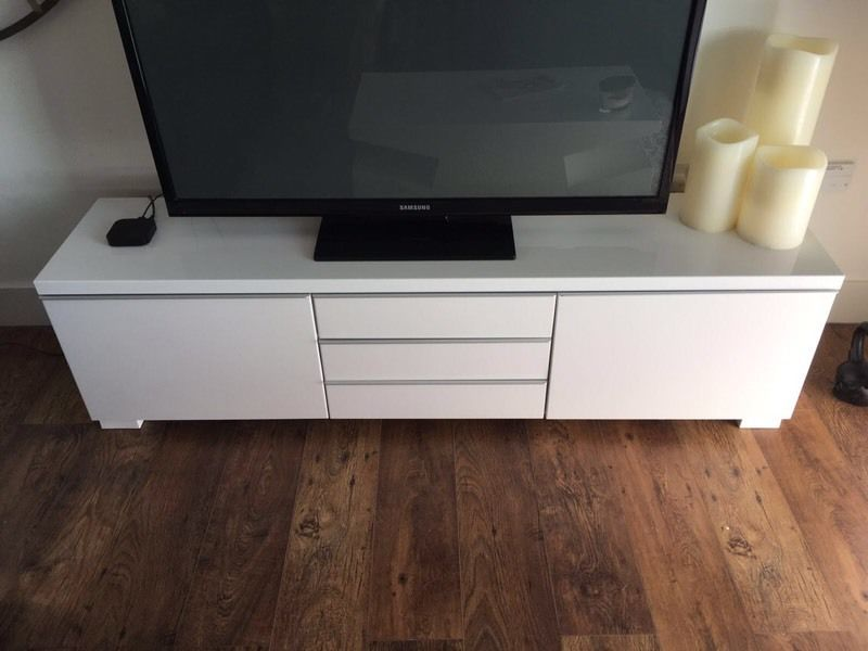 High Gloss White Tv Stand Ikea