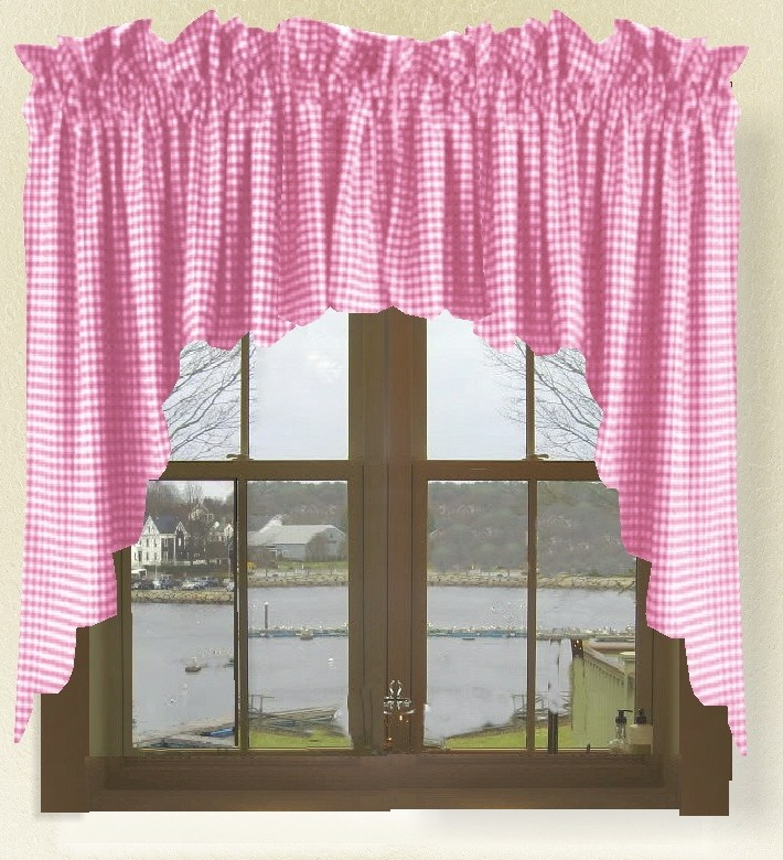Hot Pink Window Valance
