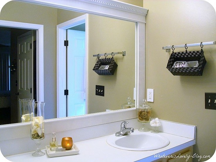 How To Frame A Bathroom Mirror With Crown Molding