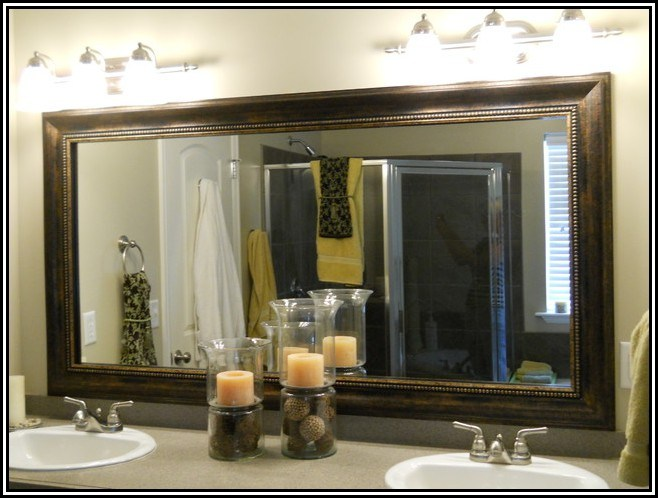 How To Frame A Bathroom Mirror With Tile