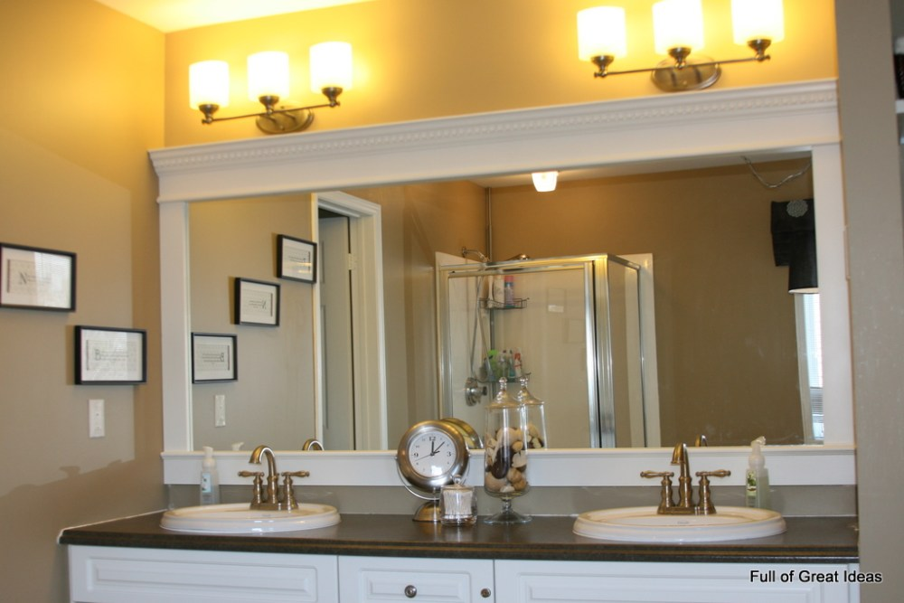 How To Frame A Large Bathroom Mirror