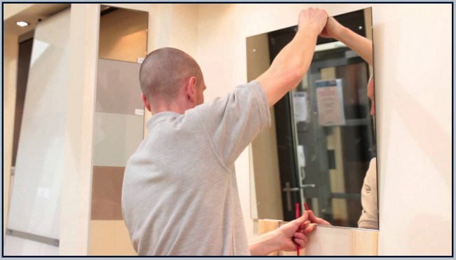 How To Hang A Bathroom Mirror Without Clips