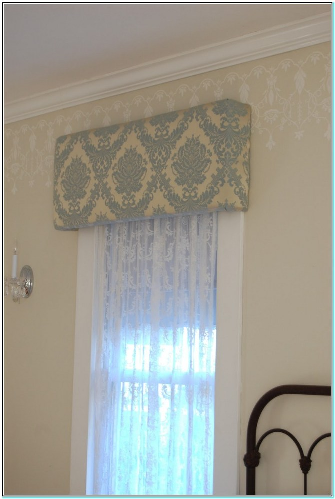 How To Make A Curtain Valance Box