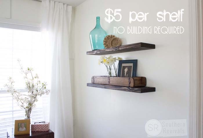 How To Make Floating Shelves Easy