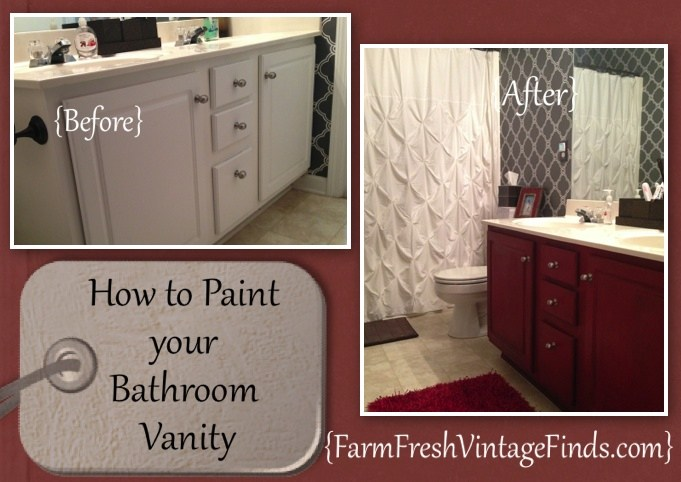 How To Paint Bathroom Cabinets Ideas