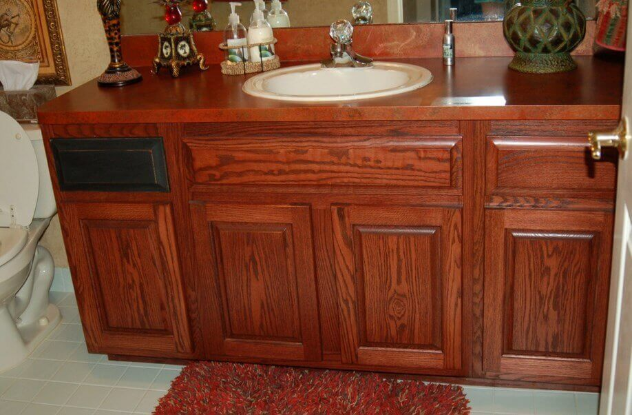 How To Refinish Bathroom Cabinets With Stain