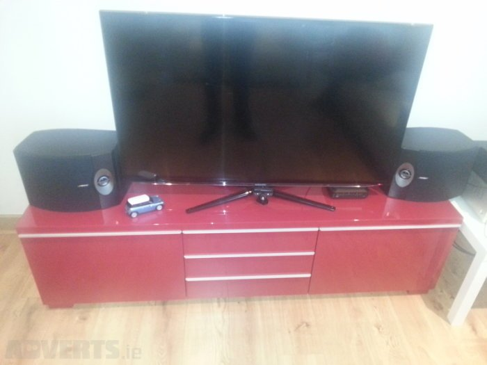 Ikea Besta Burs Tv Stand Red