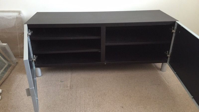 Ikea Besta Tv Stand Glass Doors