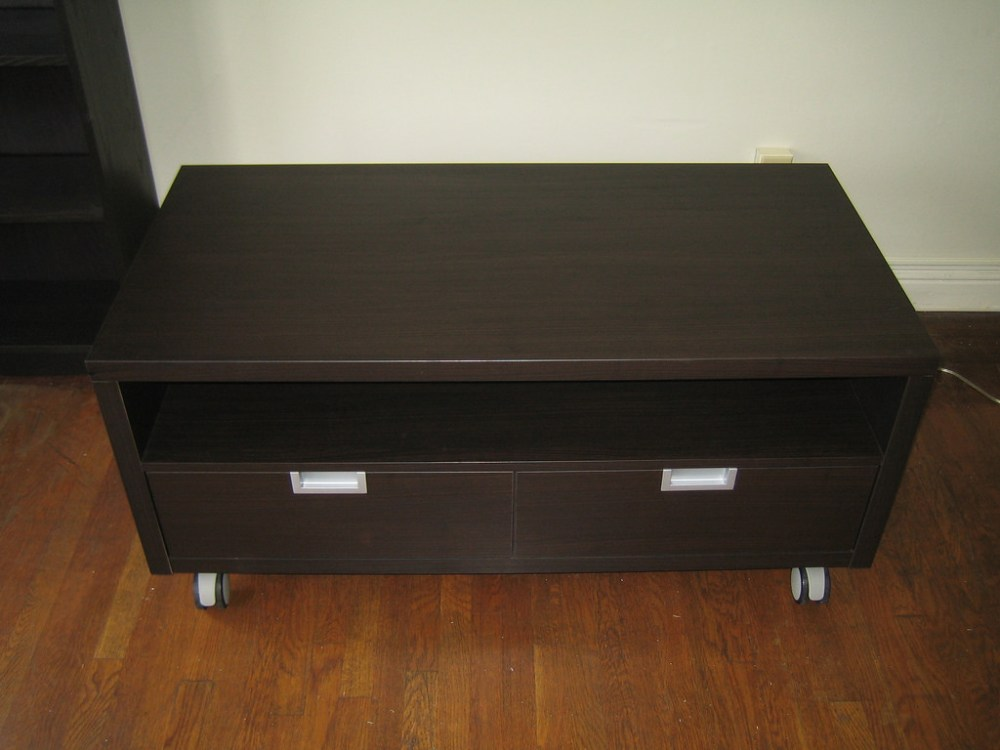 Ikea Black Brown Tv Stand