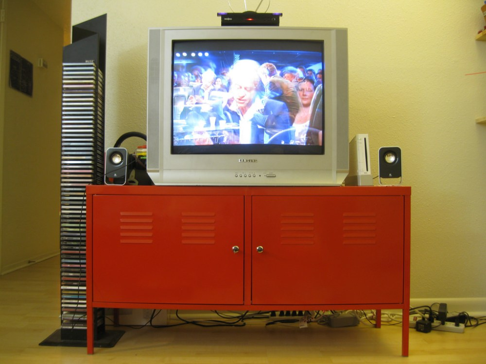 Ikea Tv Stand Red