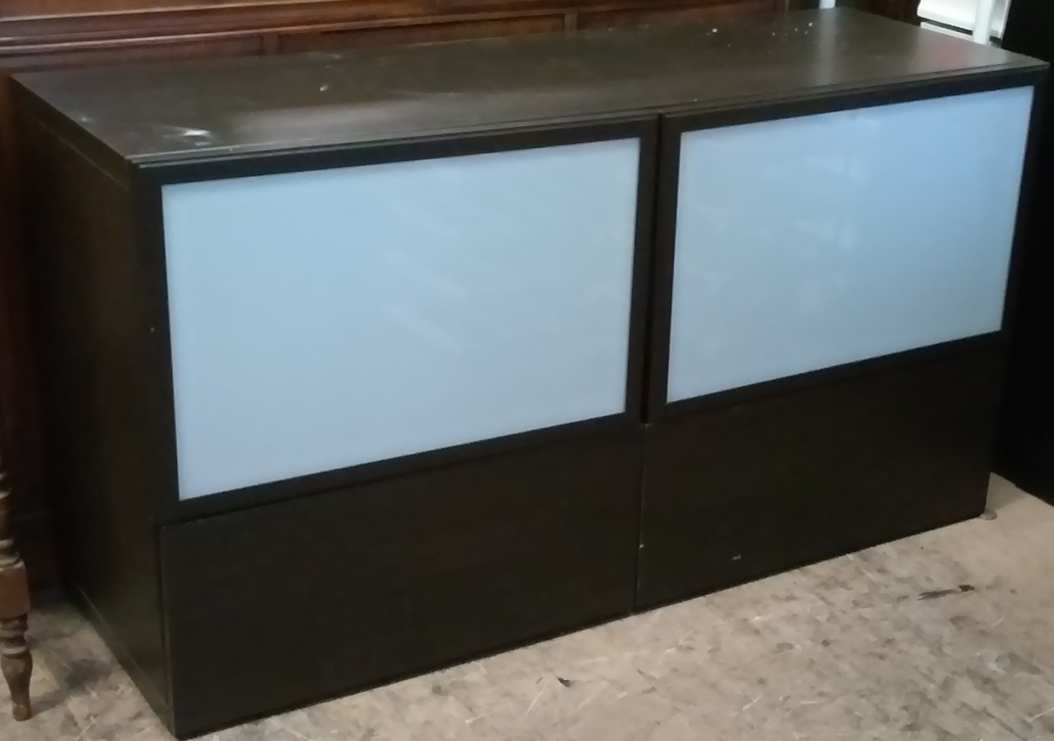 Ikea Tv Stand With Glass Doors