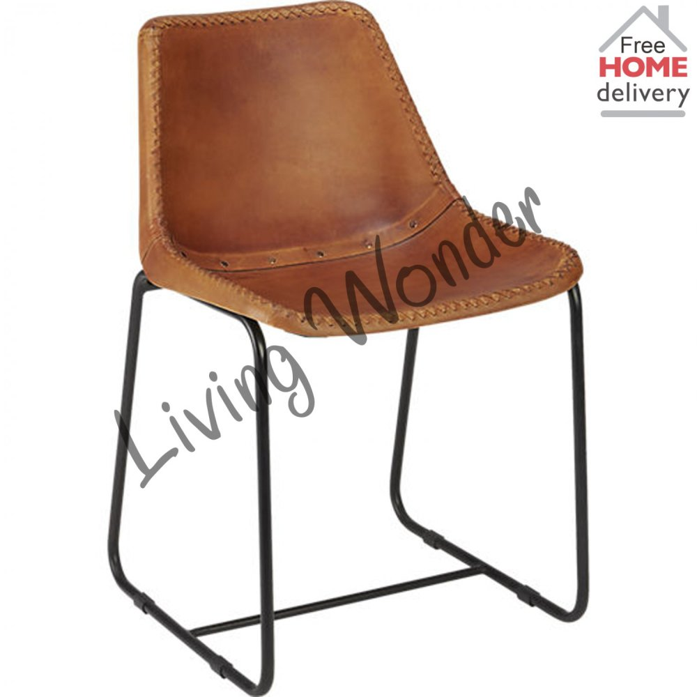 Industrial Leather Office Chair
