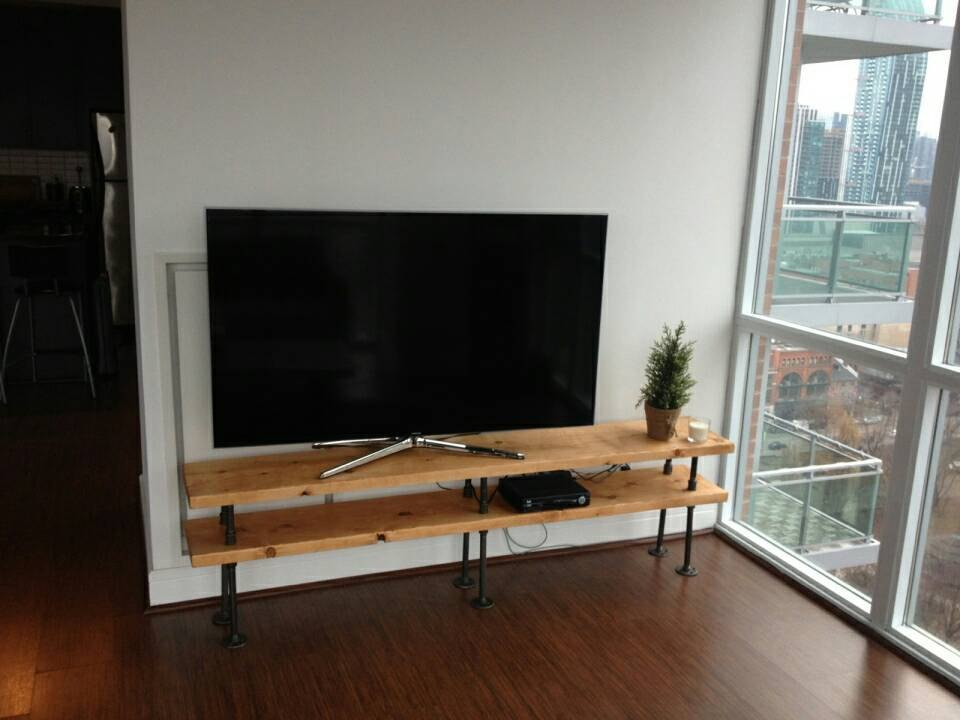 Industrial Pipe Tv Stand