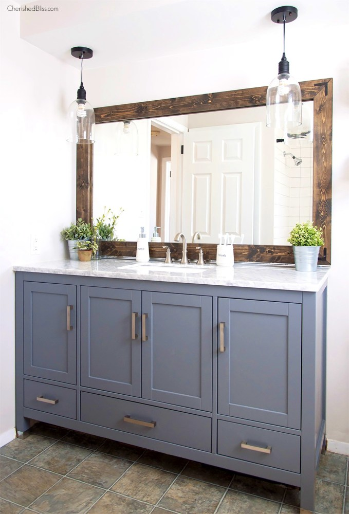Industrial Style Bathroom Mirror